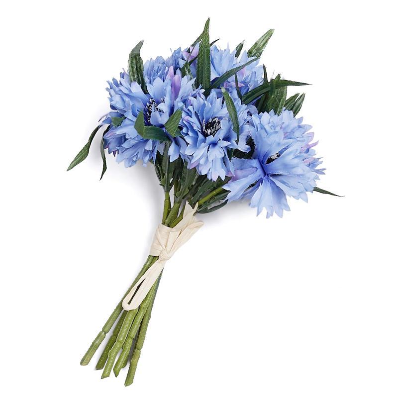 Light Blue Artificial Cornflower Bundle Bushes