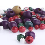 Round Multicolored Assorted Wood Beads
