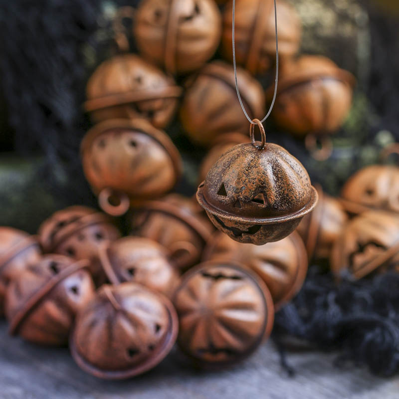 Rustic Orange Pumpkin Bells Bowl And Vase Fillers Fall And Halloween Holiday Crafts