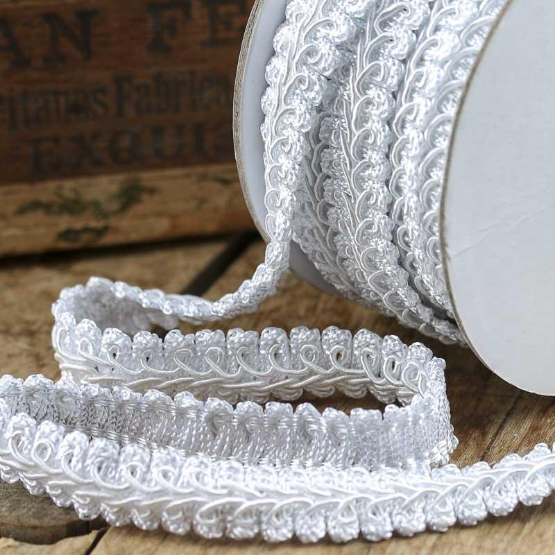 White gimp braid trim ribbon and trims craft supplies for Craft ribbons and trims