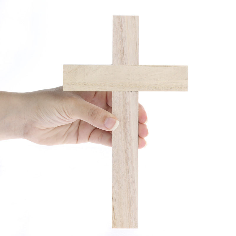 Unfinished wood wall cross wood cutouts unfinished for Wooden craft supplies online