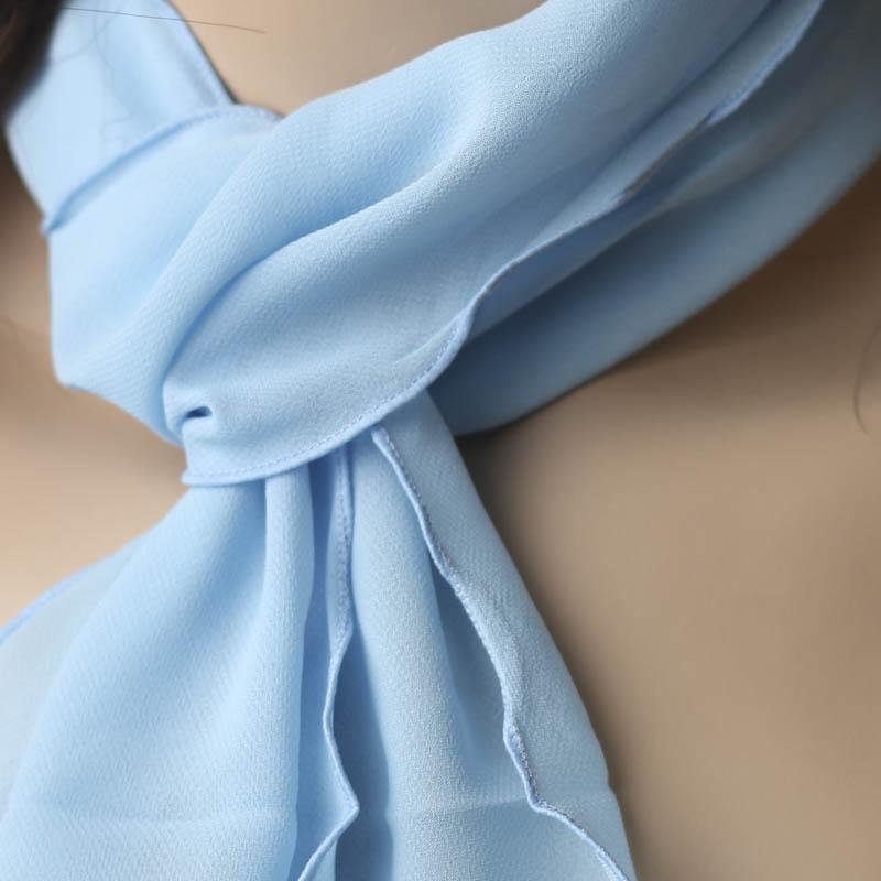 Light Blue Chiffon Scarf Hair Accessories Basic Craft