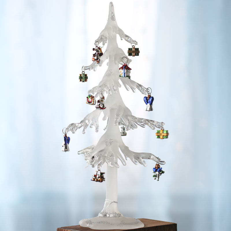 Icicle Christmas Tree with Ornaments - Table Decor ...