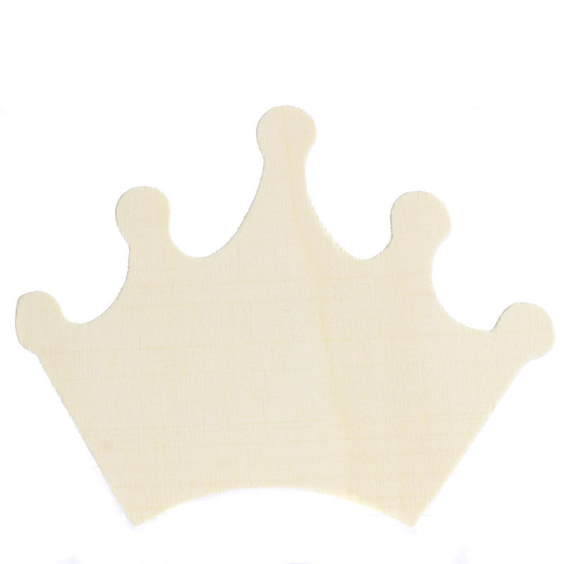 Unfinished wood princess crown cutout wood cutouts for Wood cutouts for crafts