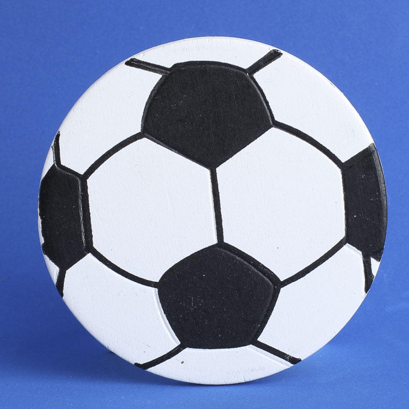 Finished Wood Soccer Ball Cutout - Wood Cutouts - Wood Crafts ...