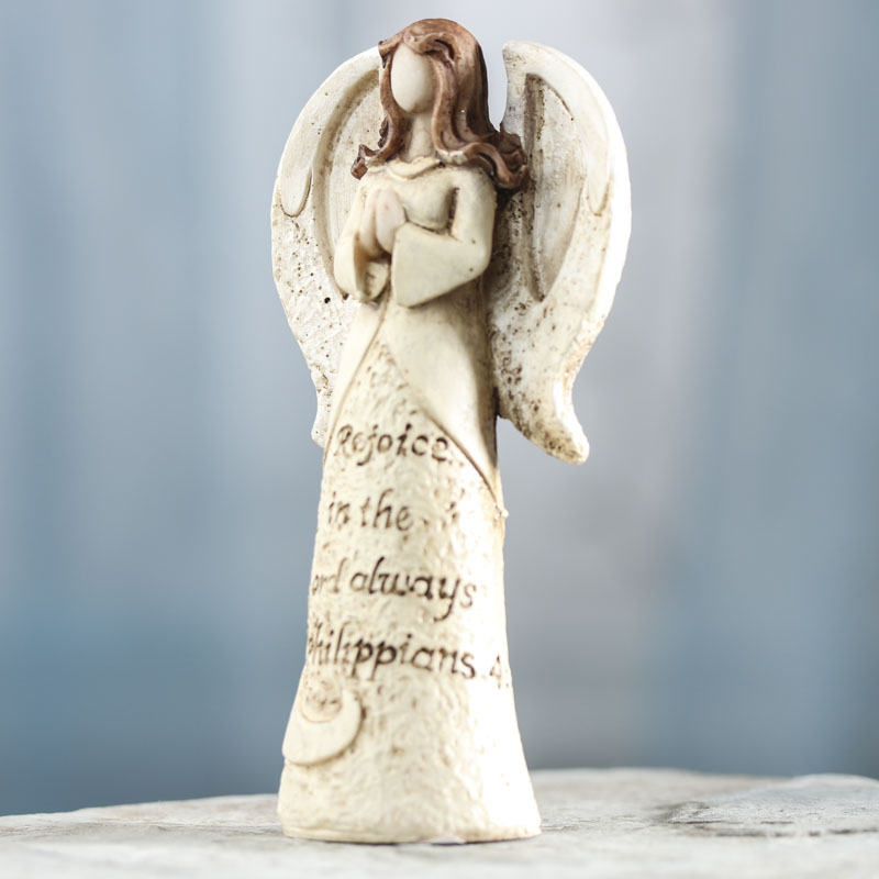 "Ivory ""Rejoice"" Angel Figurine - Table Decor - Christmas ..."