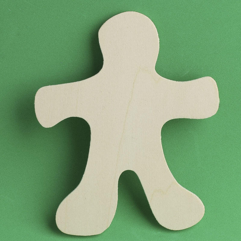 Unfinished Wood Gingerbread Man Cutout Holiday Wood