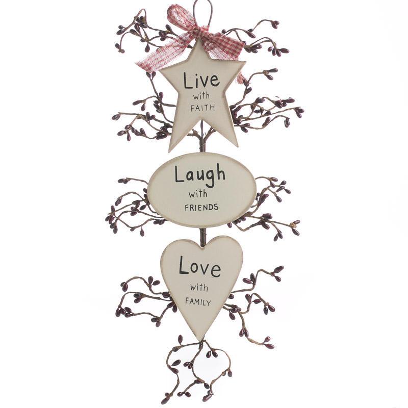 Primitive Quot Live Laugh Love Quot Hanger Wall Decor Home Decor