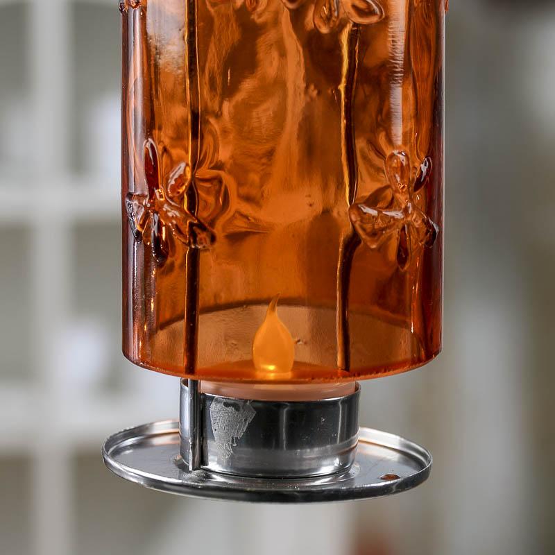 Glass Bottle LED Tea Light Candle Holder