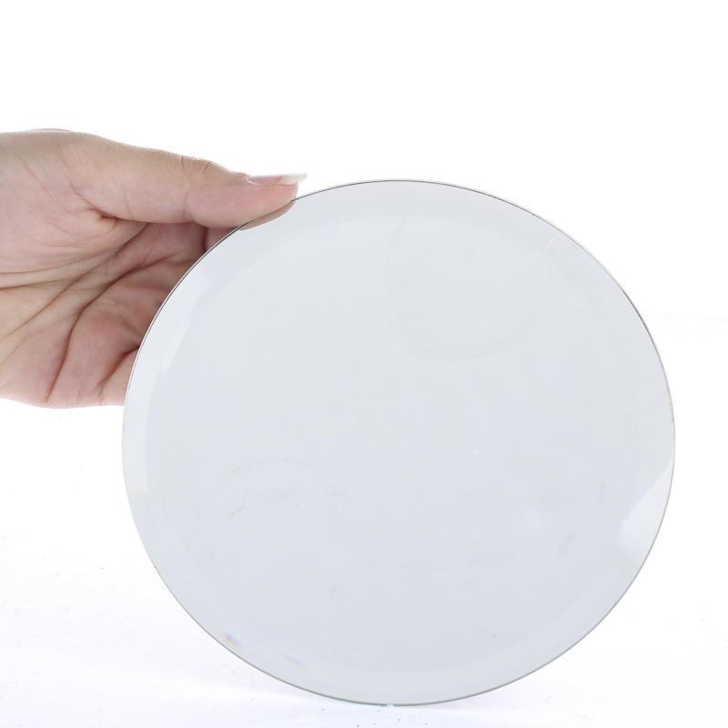 Round beveled mirror centerpiece mirrors wedding