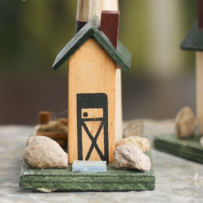 Wood Lighthouse Ornament
