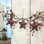 Primitive Pip Berry and Barn Star Hanger