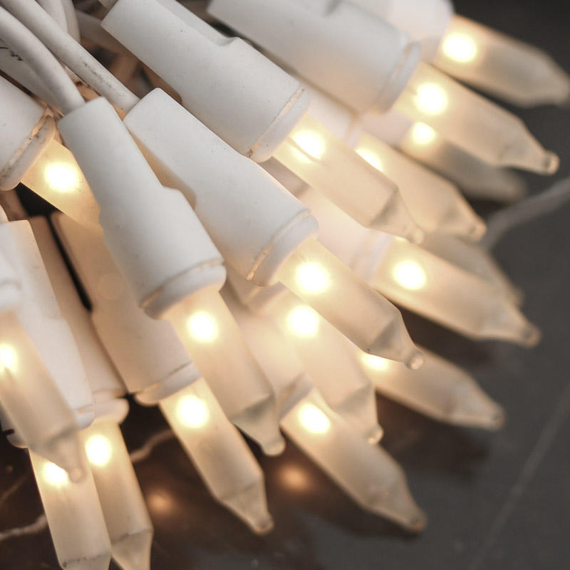 String Lights White Cord : Frosted Clear Bulb and White Cord String Lights - Lighting - Primitive Decor