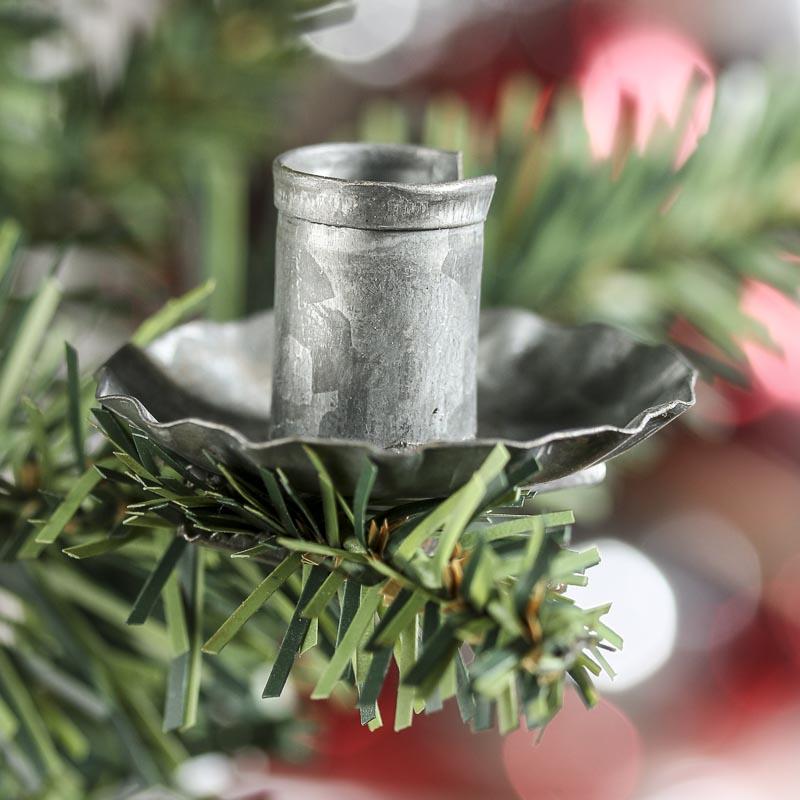 Primitive Galvanized Candle Clip Rusty Tin Primitives