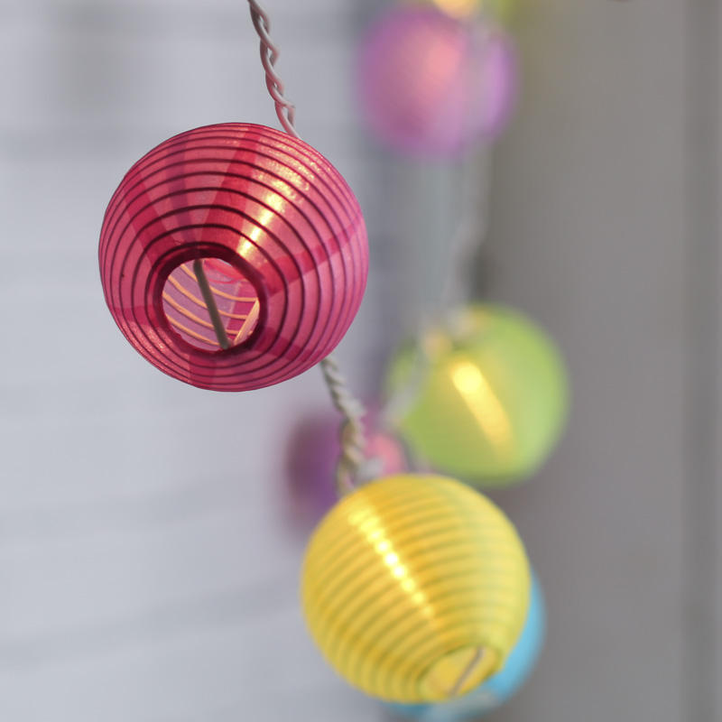 Multicolored Chinese Lantern String Lights - Lighting - Home Decor