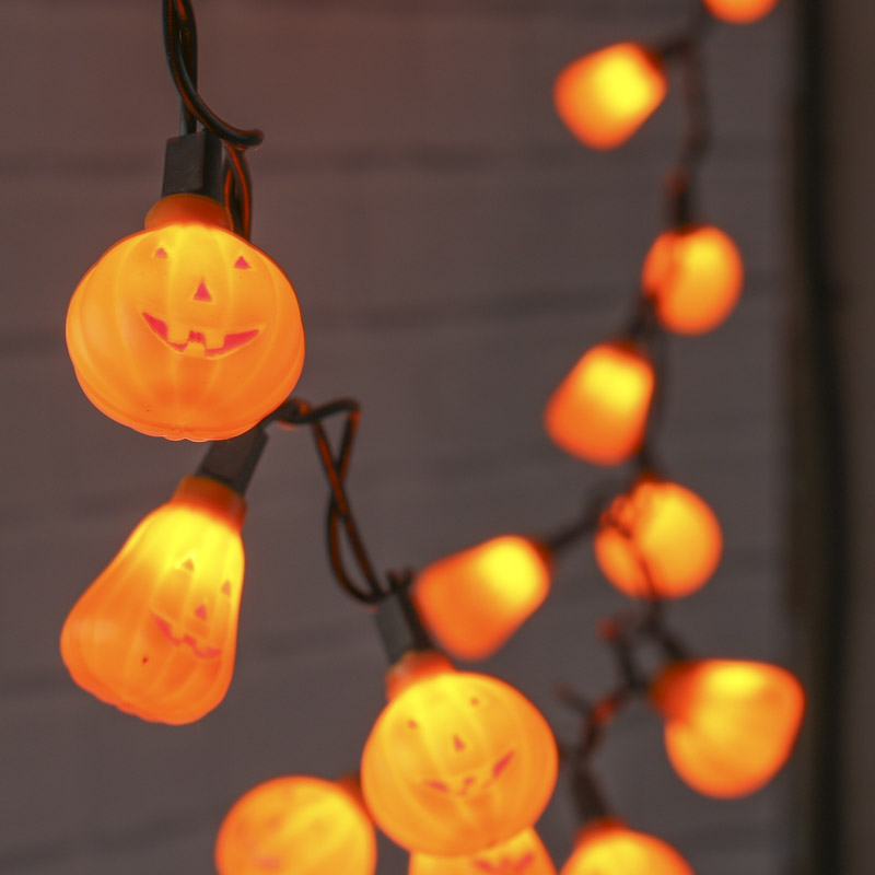 Halloween Jack O Lantern String Lights Fall And