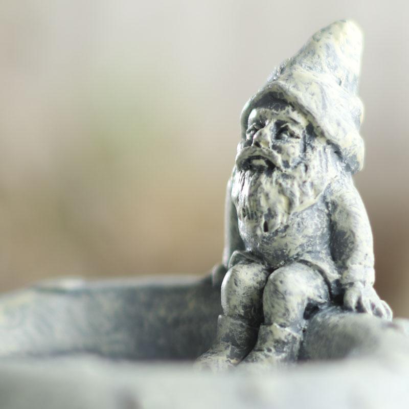 Gnome Garden: Miniature Mushroom Gnome House Bird Bath