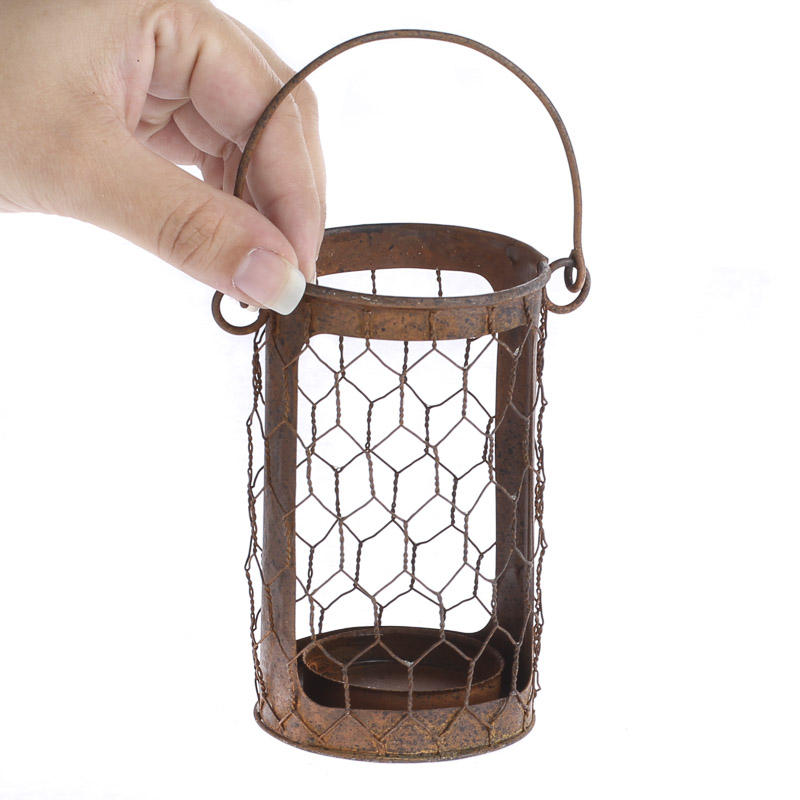 Rusty Chicken Wire Candle Holder - Candles and Accessories ...