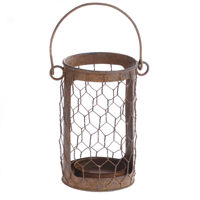 Colorful chicken wire lanterns mold wiring diagram ideas for Wire candle lantern