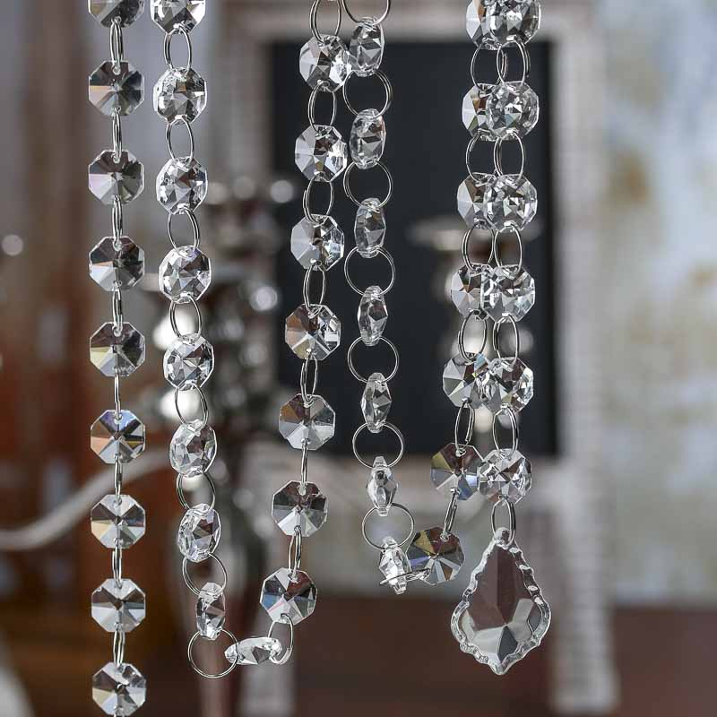 Pearl Garland For Christmas Tree: Acrylic Crystal Garland