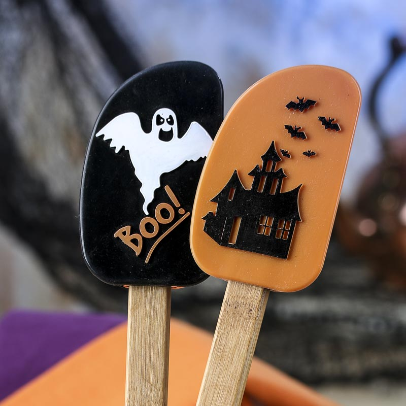 Halloween Silicone And Bamboo Spatula Kitchen Utensils