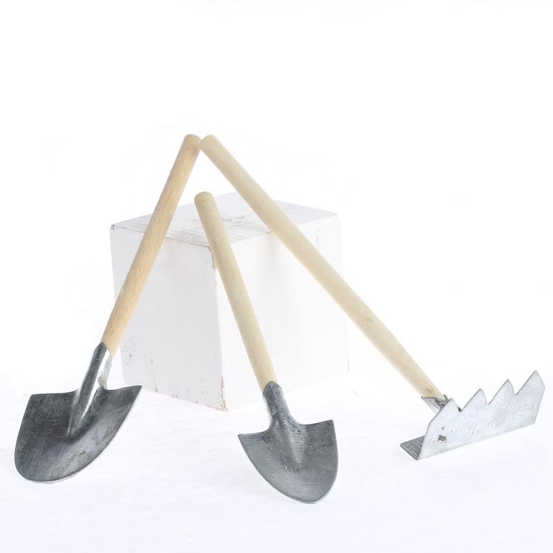 Galvanized garden tool set miniatures sale sales for Garden tools equipment sales