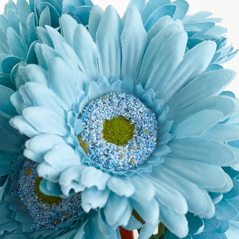 Teal Artificial Gerbera Daisy Bouquet - Bushes and ...