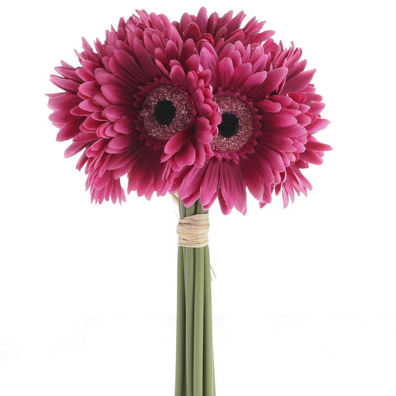 Magenta Artificial Gerbera Daisy Bouquet Bushes
