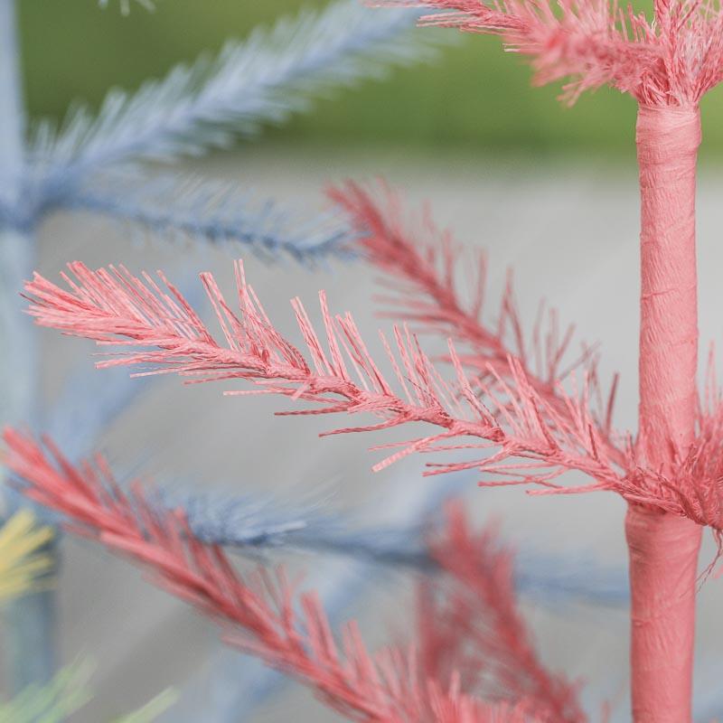 Big W White Christmas Tree: Pastel Feather Tree