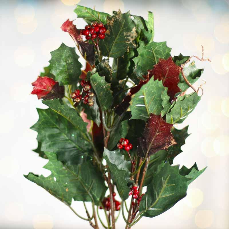 Artificial Christmas Holly Ivy Spray Sales