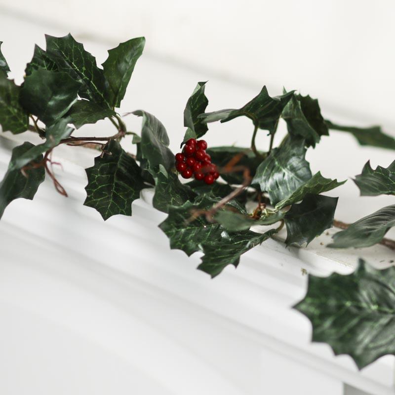 Artificial Holly Ivy Garland Christmas Garlands