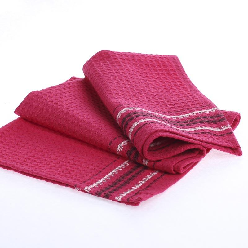 Hot Pink Waffle Weave Cloth Dish Towel Kitchen Towels Rhfactorydirectcraft: Pink Kitchen Towels At Home Improvement Advice