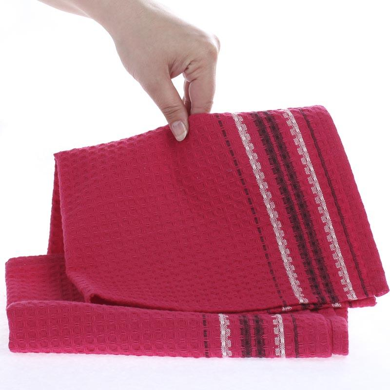 Hot Pink Towels Bathroom: Hot Pink Waffle Weave Cloth Dish Towel
