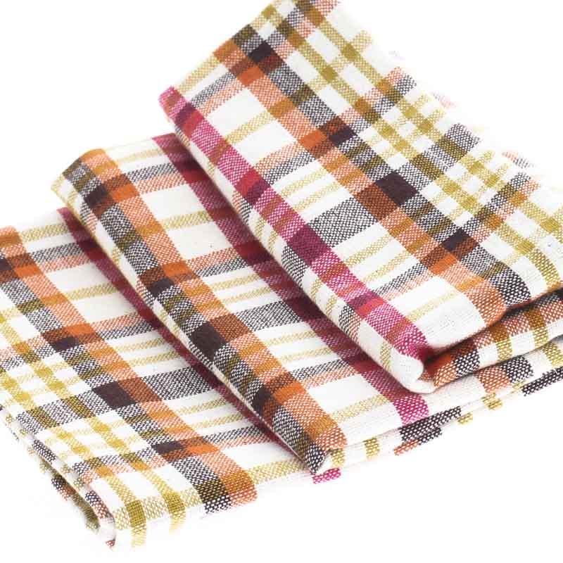 Cheery Madras Plaid Cloth Dish Towel Kitchen Towels