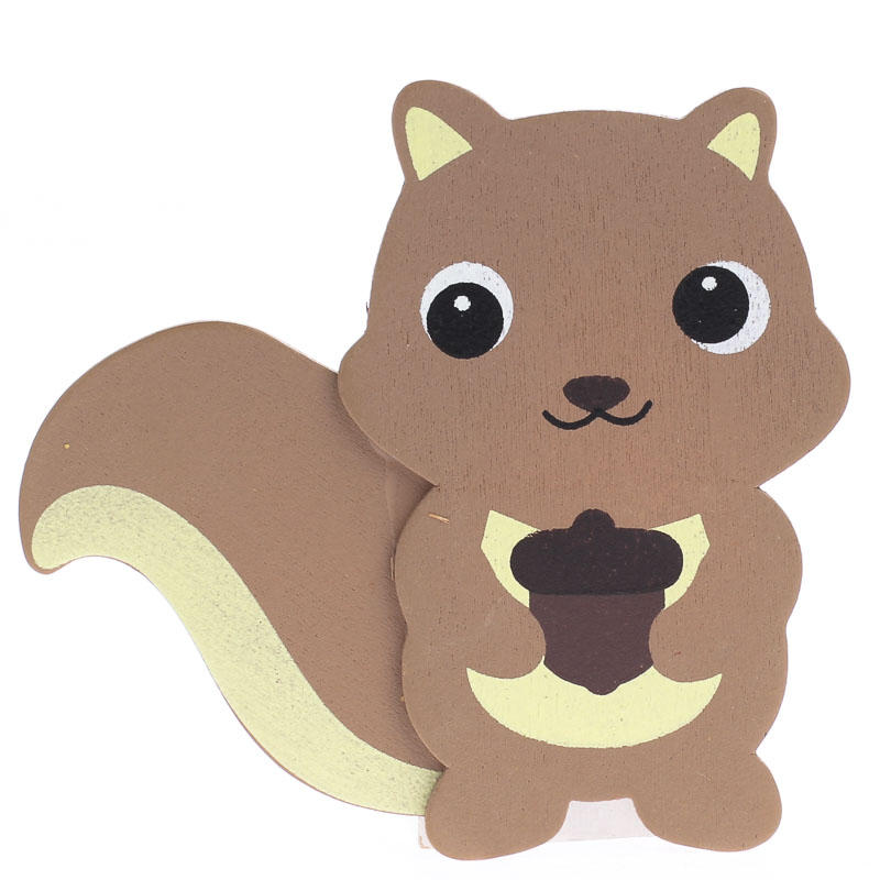Finished Baby Squirrel Wood Cutout - Wood Cutouts - Unfinished Wood - Craft Supplies