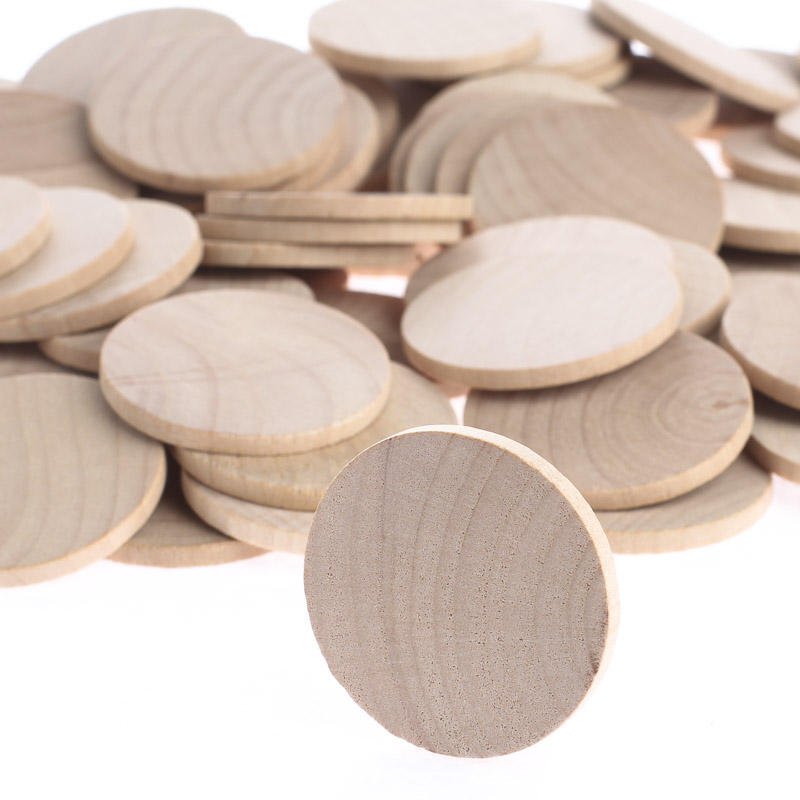 Unfinished Wood Round Disc Cutouts