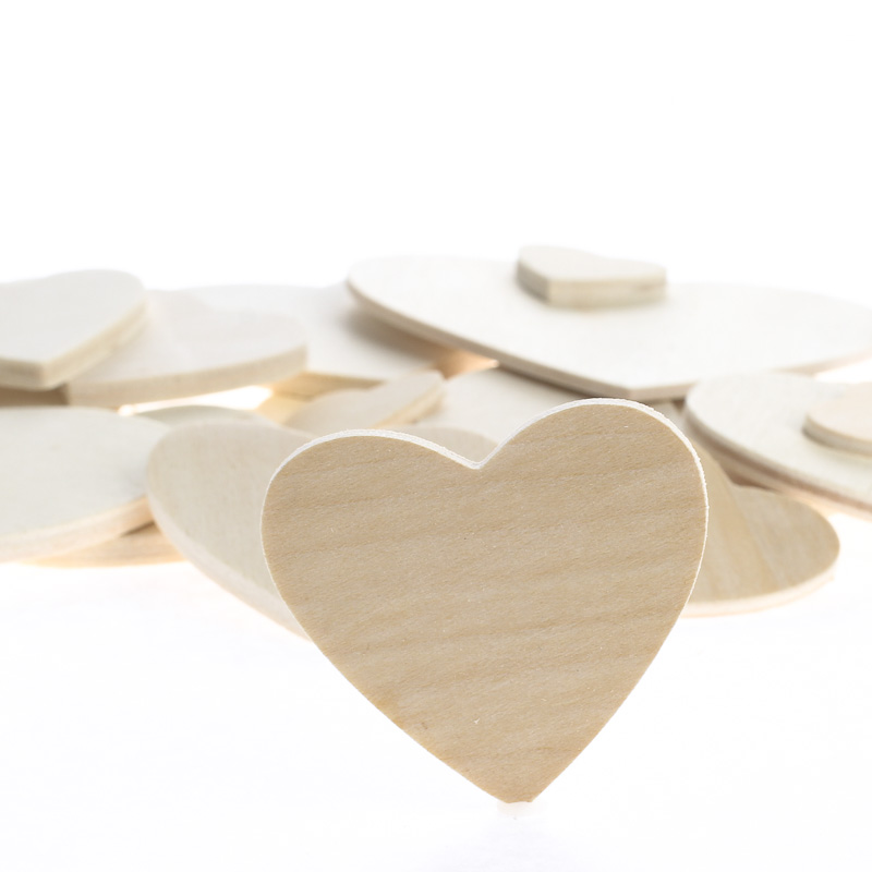 Assorted unfinished wood heart cutouts wooden hearts for Wood craft supply stores
