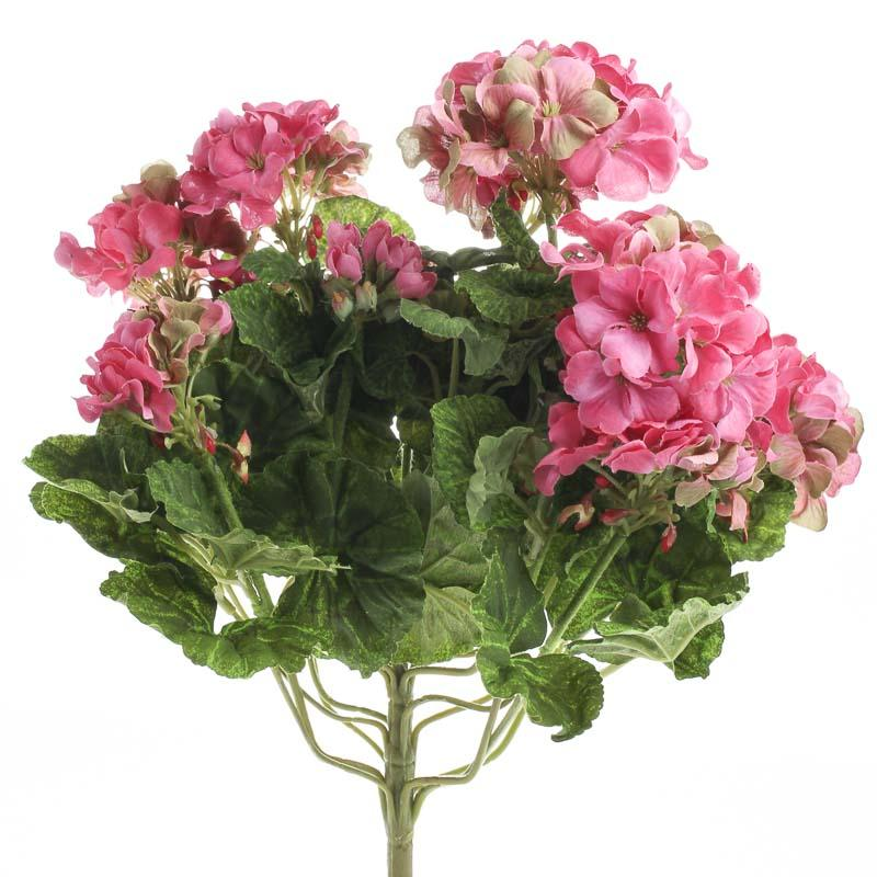 Realistic artificial geranium bush bushes and bouquets for Geranium artificiel jardiniere