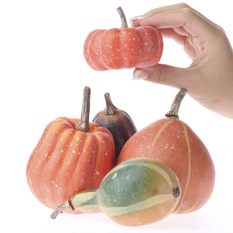 Fall artificial pumpkins and gourds table decor fall for Where to buy gourds for crafts