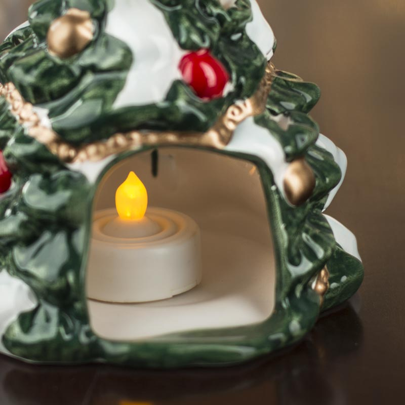 Retro christmas tree tea light candle holder on sale for Christmas candle displays