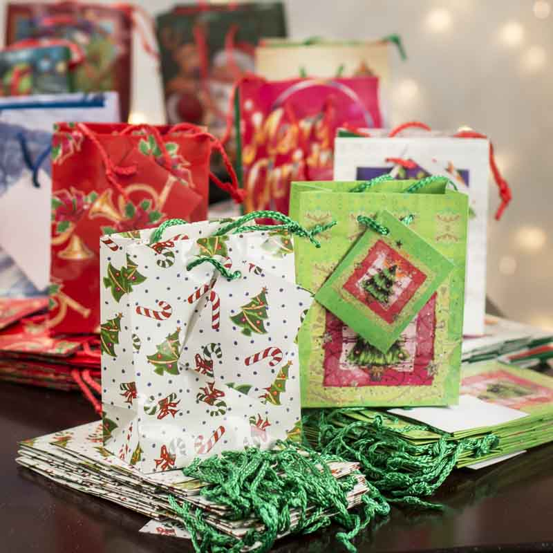 Small Christmas Gift Bags - Bags - Basic Craft Supplies - Craft Supplies