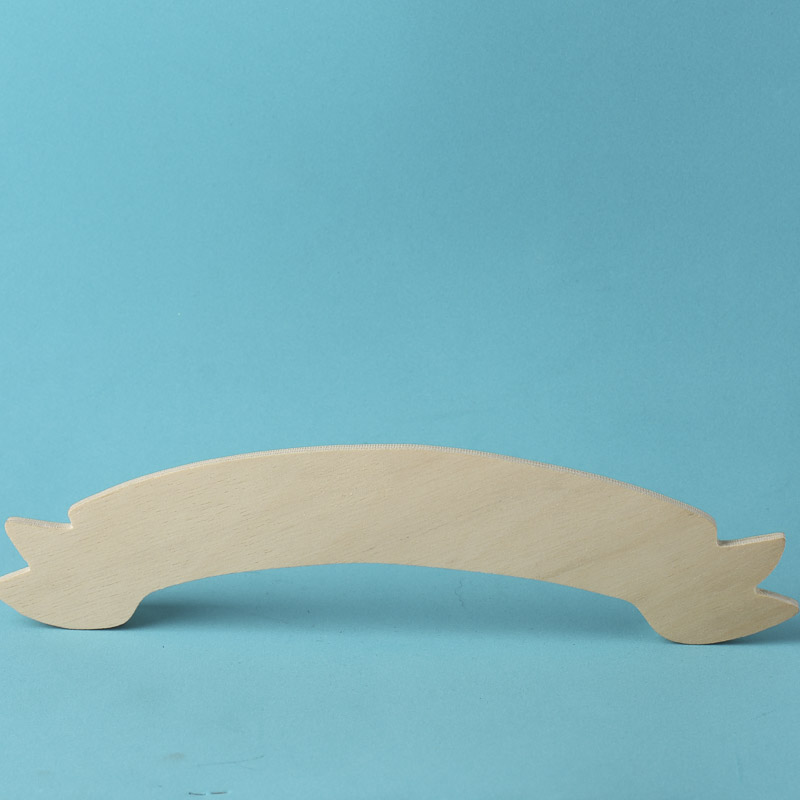 Unfinished Wood Banner Cutout Wooden Plaques And Signs