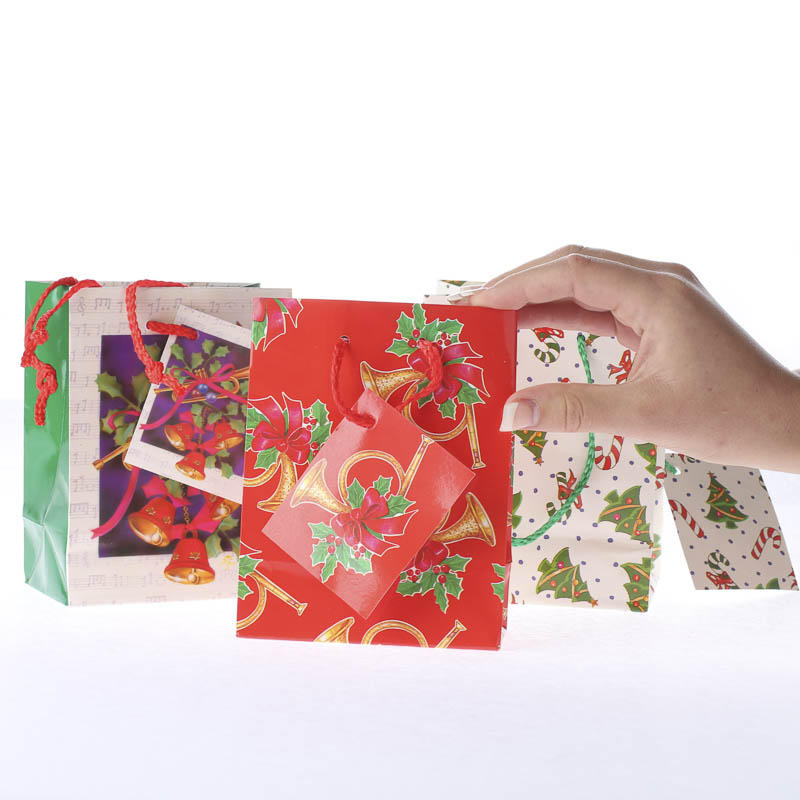 Small christmas gift bags on sale holiday crafts