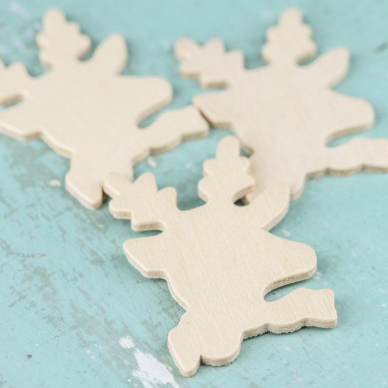 Unfinished Wood Reindeer Cutouts Wood Cutouts Wood
