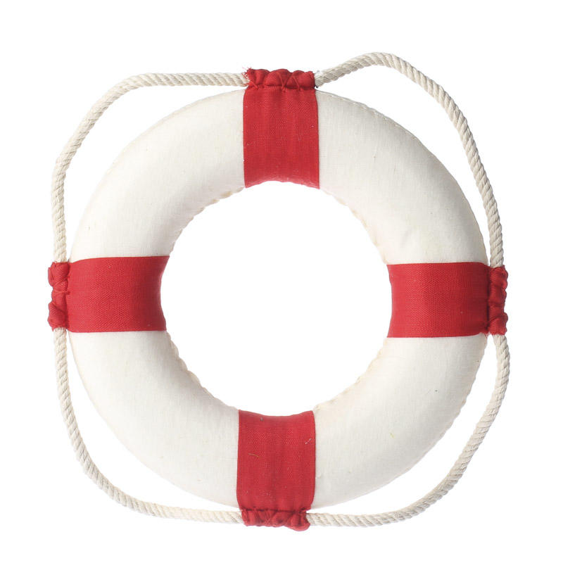 Red And White Life Preserver Ring Home Decor