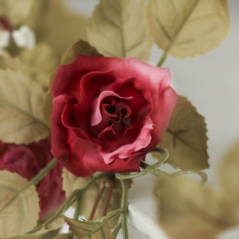 Artificial dried rose garland spring flowers floral for Dried flowers craft supplies