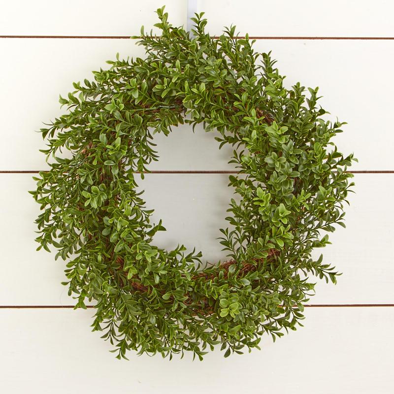 Artificial Boxwood Wreath Wall Decor Home Decor