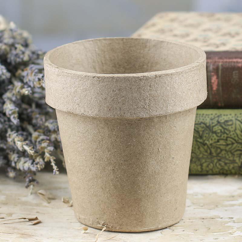 paper mache flower pot