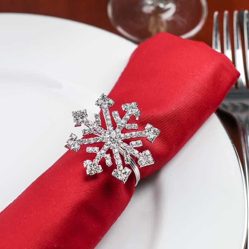 Dazzling Snowflake Napkin Rings Table Decor Christmas
