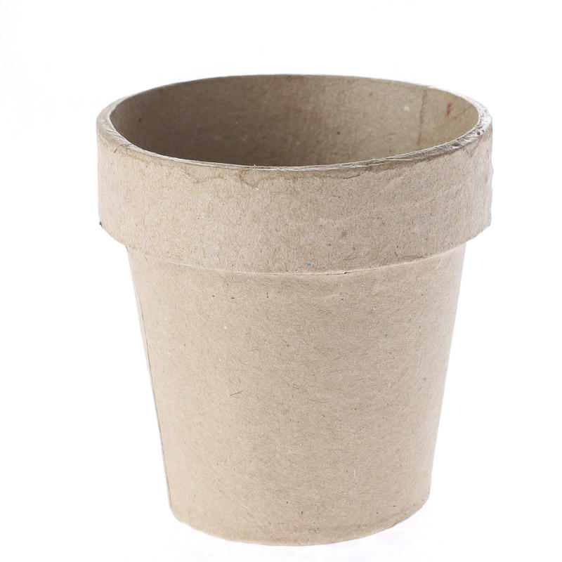 Paper mache flower pot paper mache basic craft for Flower pot made by waste material